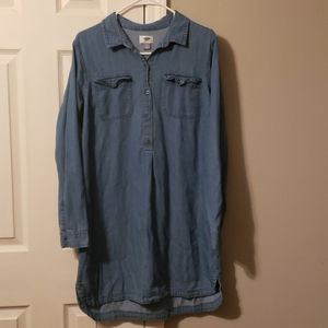 Old Navy denim long sleeve dress large